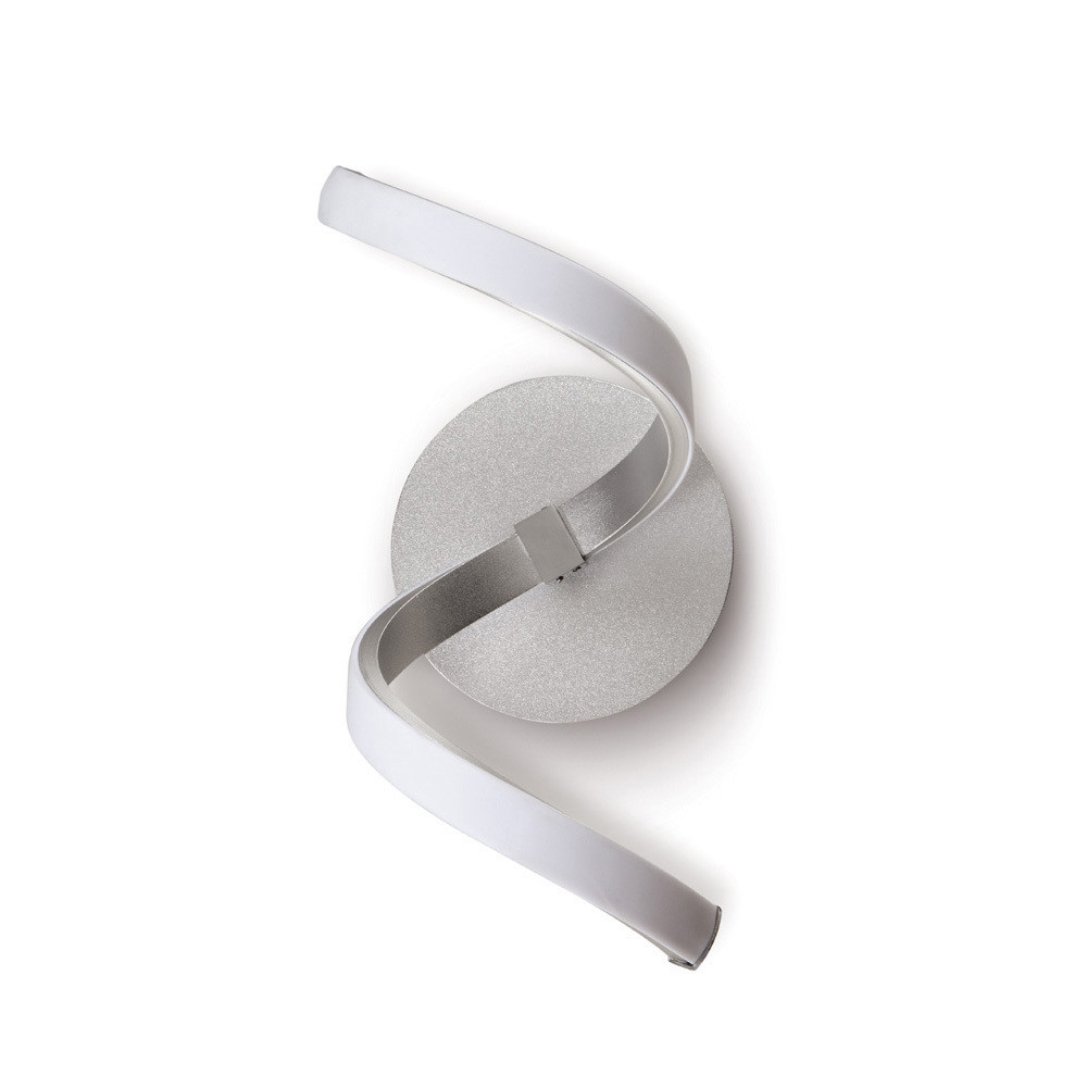 Nur Wall Lamp 10W LED 3000K, 850lm, Silver/Frosted Acrylic/Polished Chrome, 3yrs Warranty