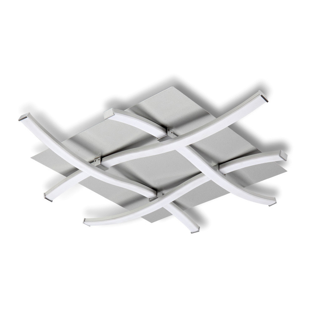 Nur Ceiling 34W LED 3000K, 2600lm, Silver/Frosted Acrylic/Polished Chrome, 3yrs Warranty