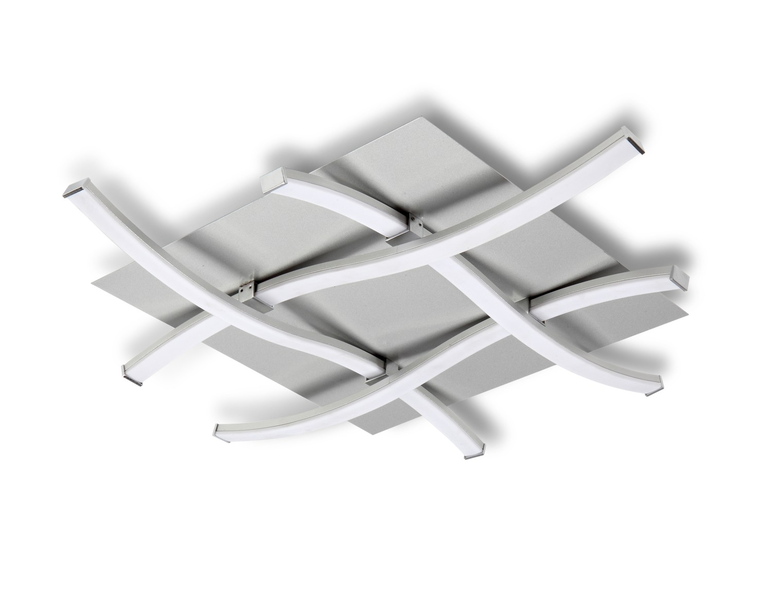 Nur Ceiling 34W LED 3000K, 2600lm, Dimmable Silver/Frosted Acrylic/Polished Chrome, 3yrs Warranty
