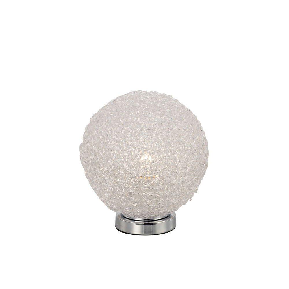 Bola Table Lamp 20cm Round 1 x E27, Chrome