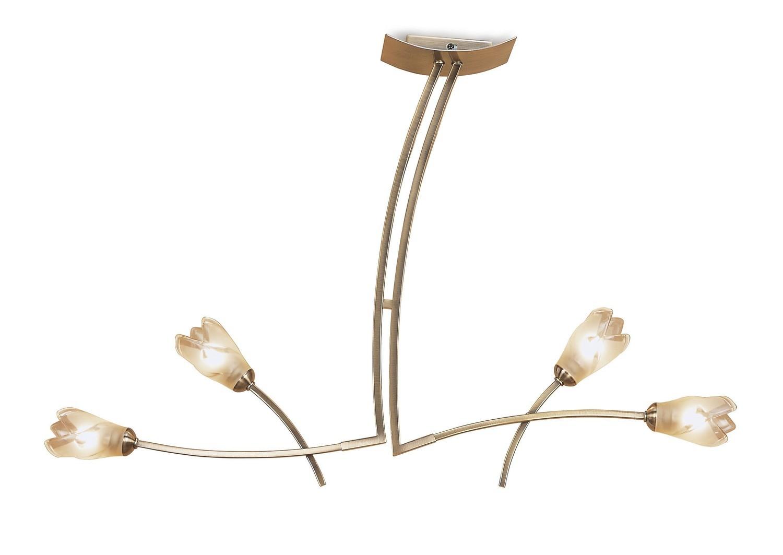 Pietra Pendant 2 Arm 4 Light G9, Antique Brass