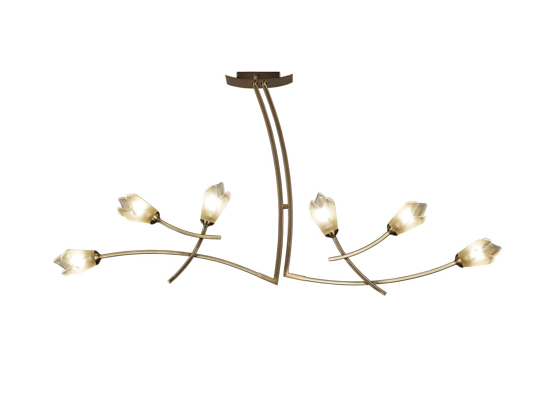 Pietra Pendant 2 Arm 6 Light G9, Antique Brass
