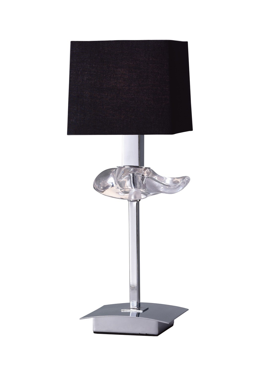 Akira Table Lamp 1 Light E14, Polished Chrome With Black Shade