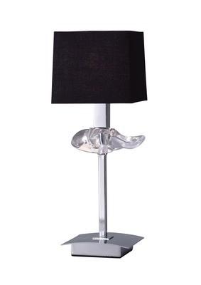 Akira Table Lamp 1 Light E14, Polished Chrome With Black Shade