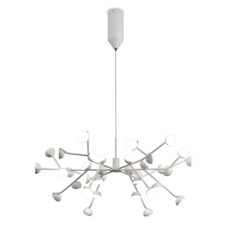 Adn 36 Light Pendant, Round 74cm, 100W LED, 3000K, 5500lm, White