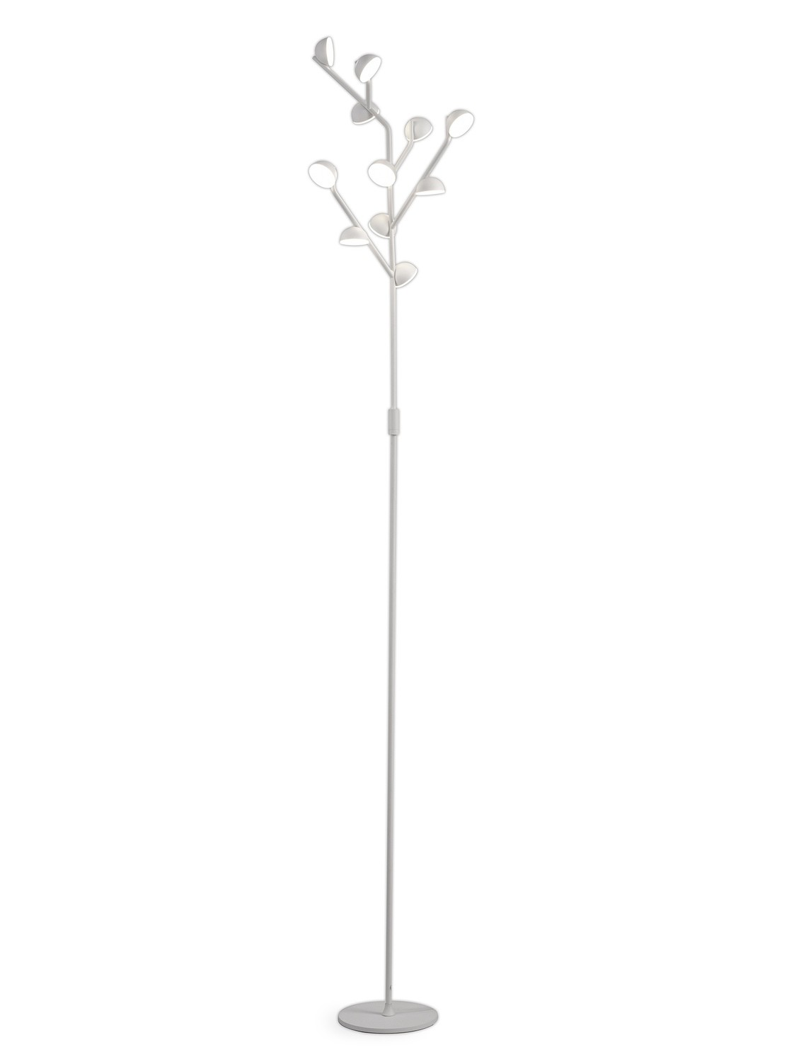 Adn 10 Light Floor Lamp 158cm, 30W LED, 3000K, 1650lm, White, 3yrs Warranty