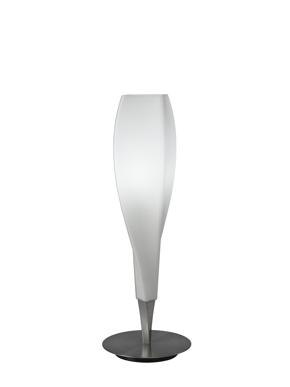 Neo Table Lamp 1 Light E27, Satin Nickel/Frosted White Glass