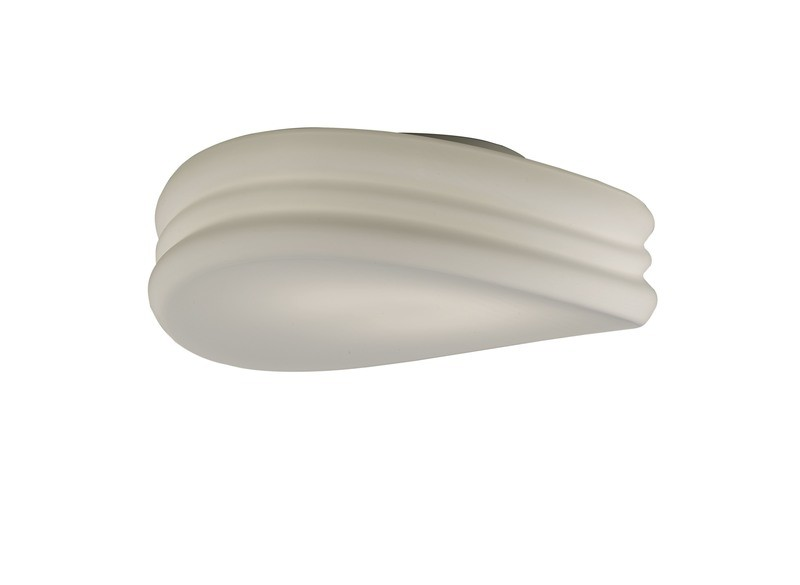 Mediterraneo Ceiling/Wall 3 Light E27 Large, Frosted White Glass