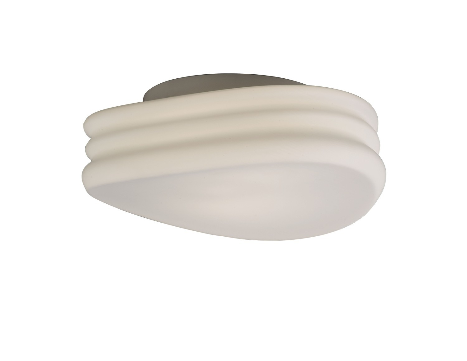 Mediterraneo Ceiling/Wall 2 Light E27 Medium, Frosted White Glass