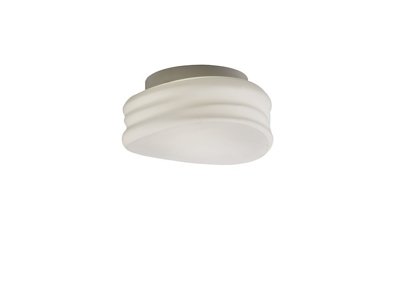 Mediterraneo Ceiling/Wall 2 Light GU10 Small, Frosted White Glass