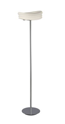 Mediterraneo Floor Lamp 2 Light E27, Polished Chrome/Frosted White Glass