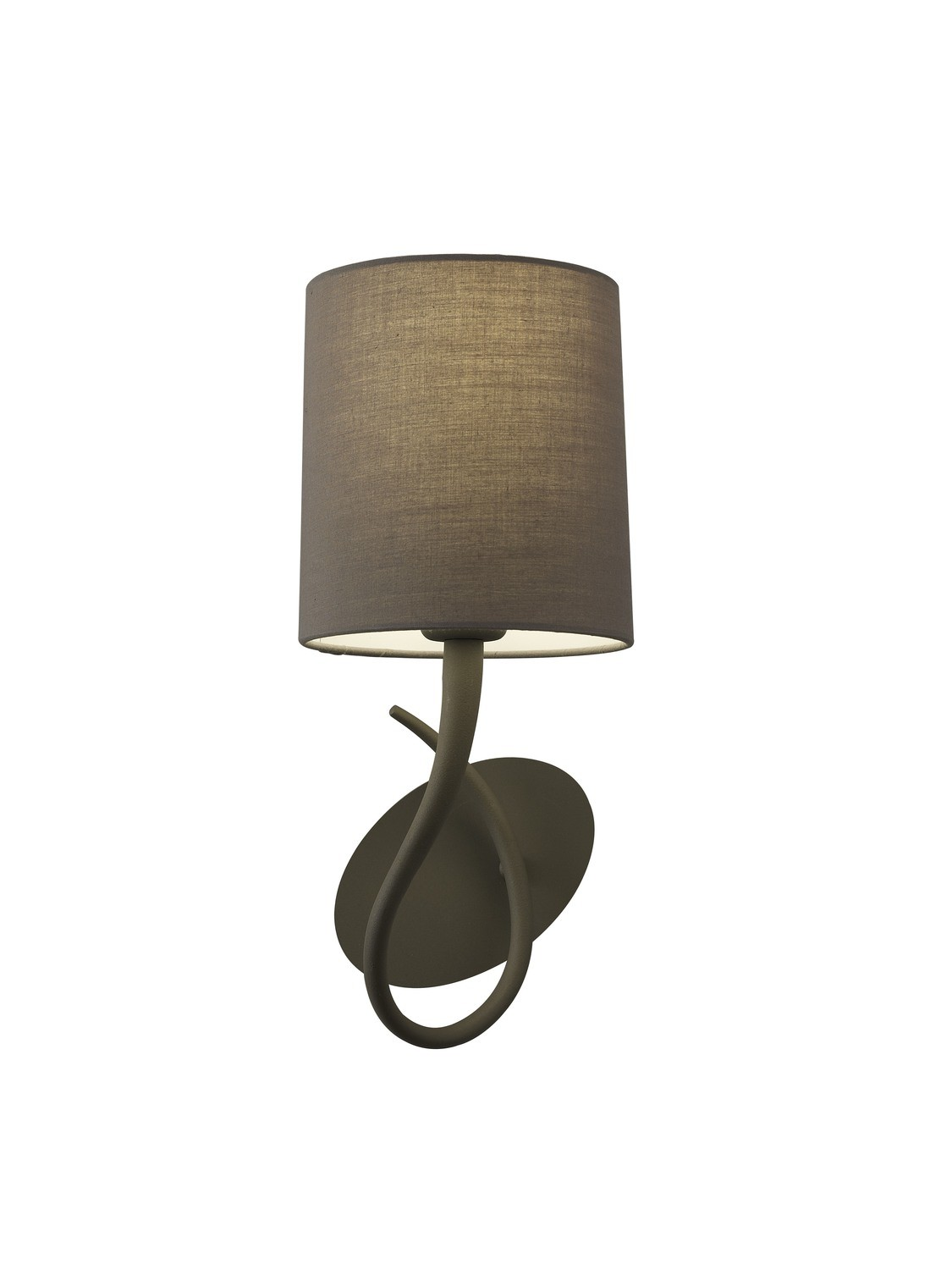 Lua Wall Lamp Switched 1 Light E27, Ash Grey With Ash Grey Shade