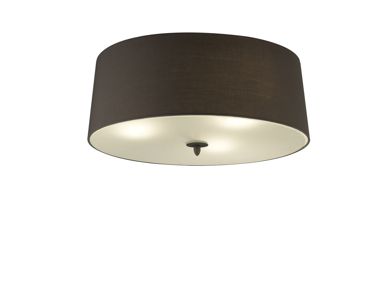 Lua Ceiling 3 Light E27, Ash Grey With Ash Grey Shade