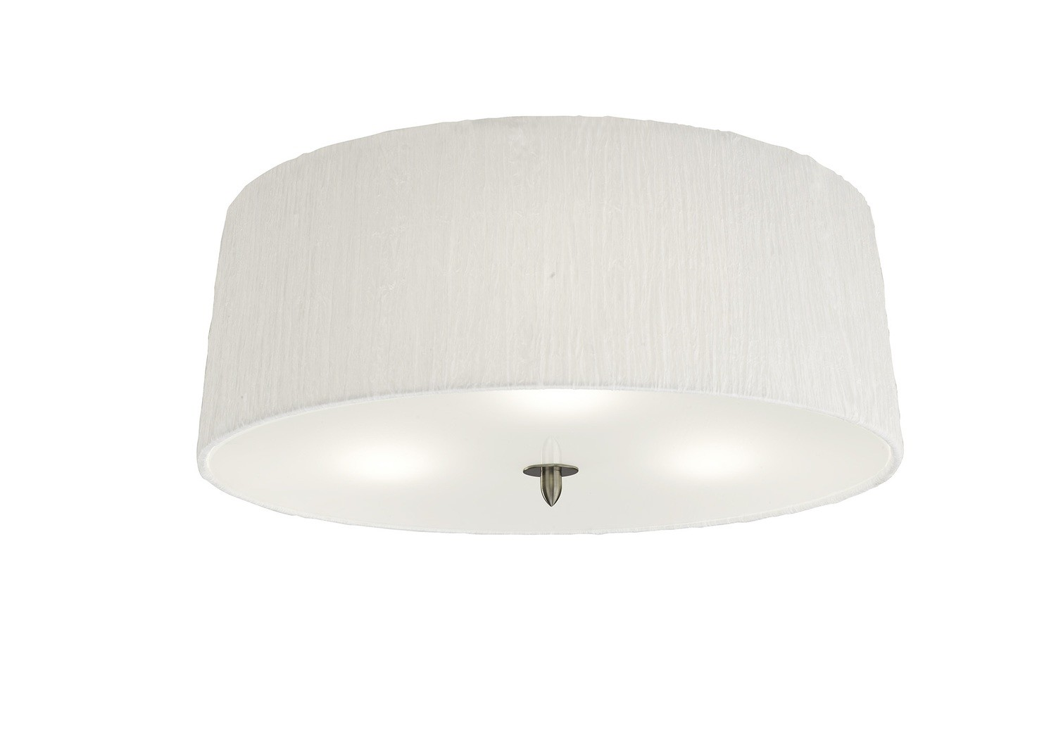 Lua Ceiling 3 Light E27, Satin Nickel With White Shade