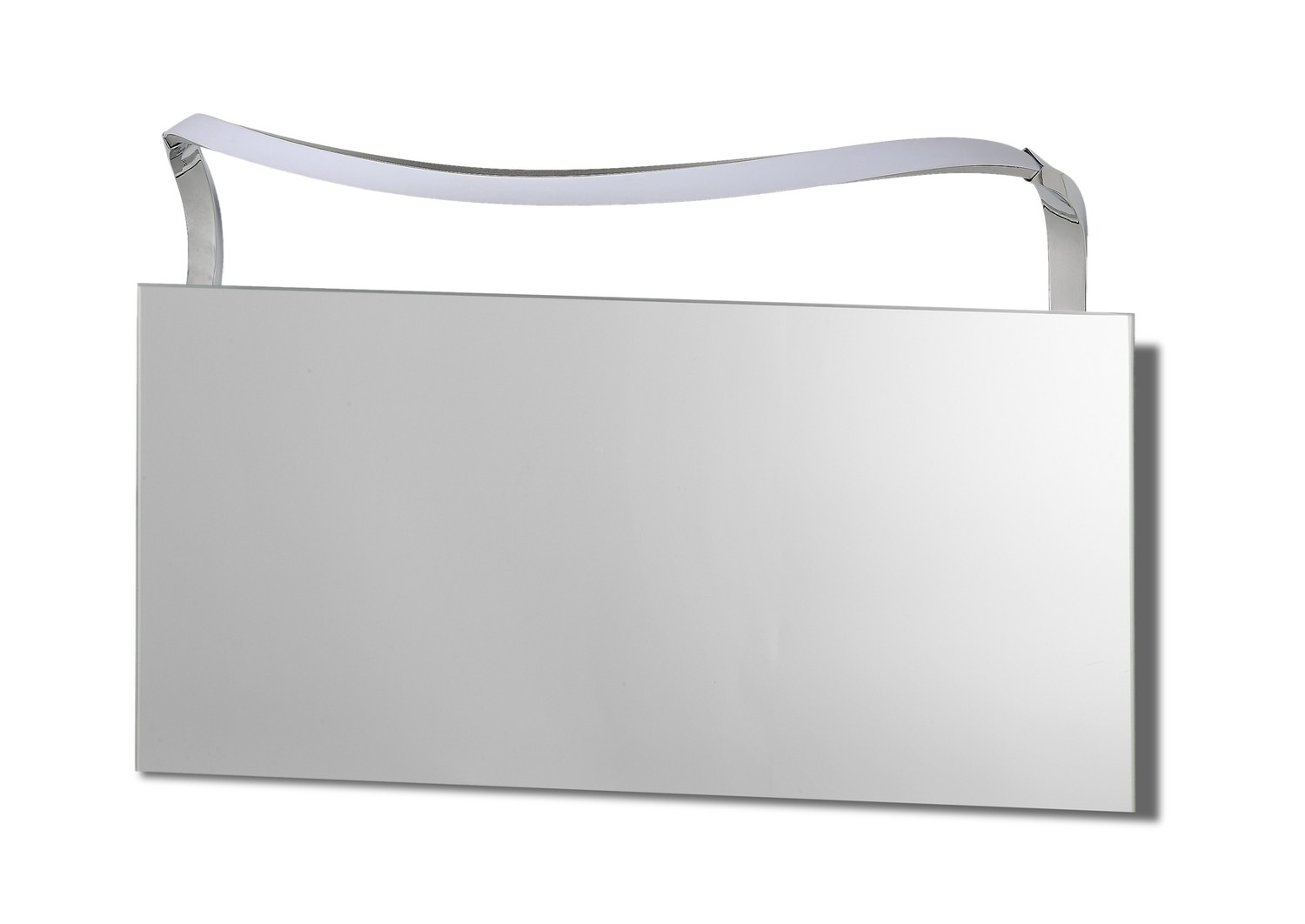 Sisley Wall Lamp 12W LED Big Wave IP44 4000K, 950lm, Silver/Frosted Acrylic/Polished Chrome, 3yrs Warranty
