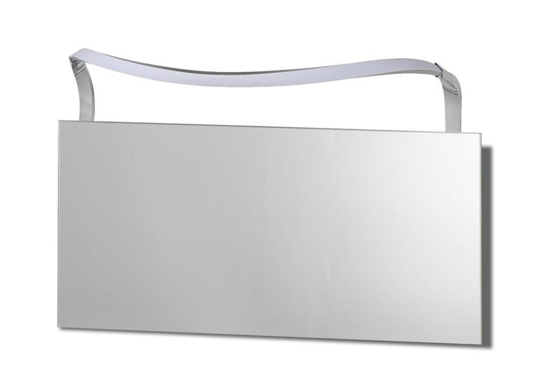 Sisley Wall Lamp 12W LED Big Wave IP44 4000K, 950lm, Silver/Frosted Acrylic/Polished Chrome, 3yrs Warranty