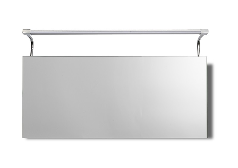 Sisley Wall Lamp 10W LED Big Double IP44 4000K, 850lm, Silver/Frosted Acrylic/Polished Chrome, 3yrs Warranty