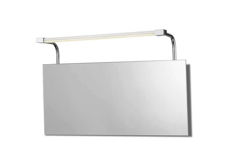 Sisley Wall Lamp 6W LED Chrome IP44 4000K, 420lm, Silver/Frosted Acrylic/Polished Chrome, 3yrs Warranty