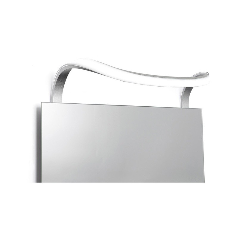 Sisley Wall Lamp 12W LED Chrome IP44 4000K, 840lm, Silver/Frosted Acrylic/Polished Chrome, 3yrs Warranty