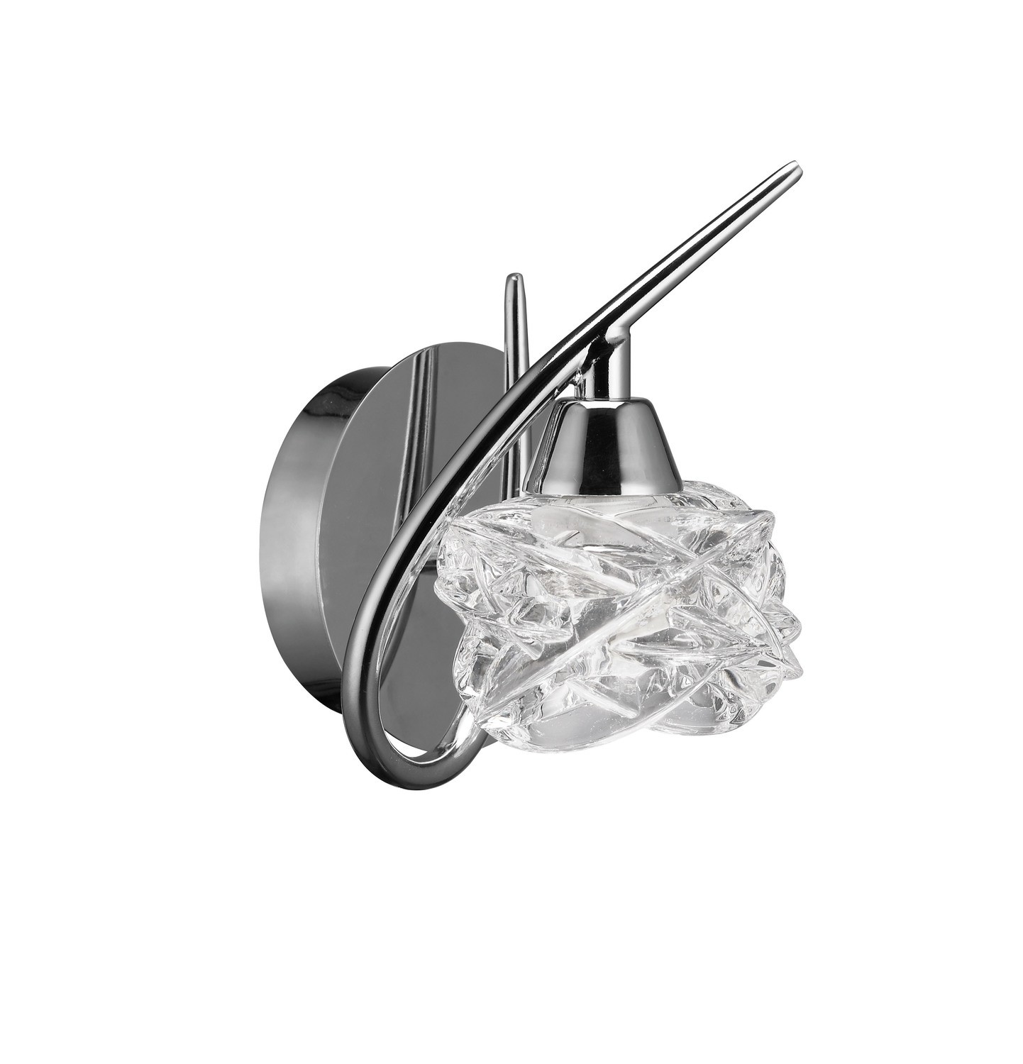 Maremagnum Wall Lamp Switched 1 Light G9, Polished Chrome