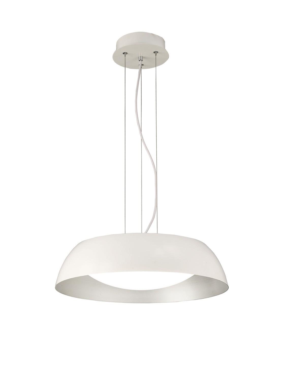 Argenta Pendant Small 18W LED 3000K, 1800lm, Matt White/Silver/White Acrylic