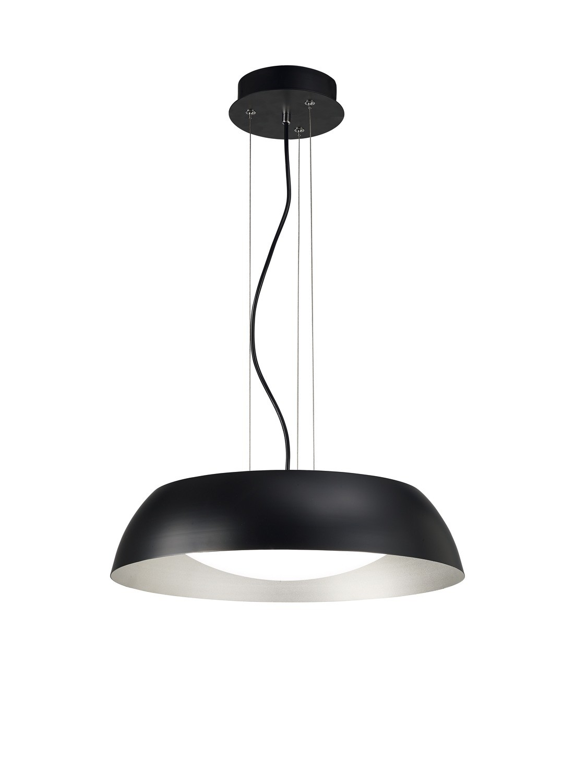 Argenta Pendant Small 18W LED 3000K, 1800lm, Matt Black/Silver/White Acrylic