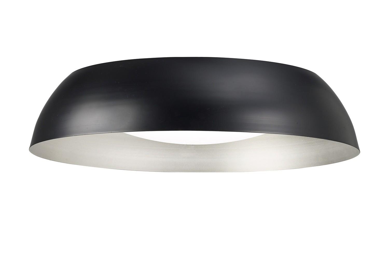 Argenta Ceiling Large 30W LED 3000K, 3000lm, Matt Black/Silver/White Acrylic