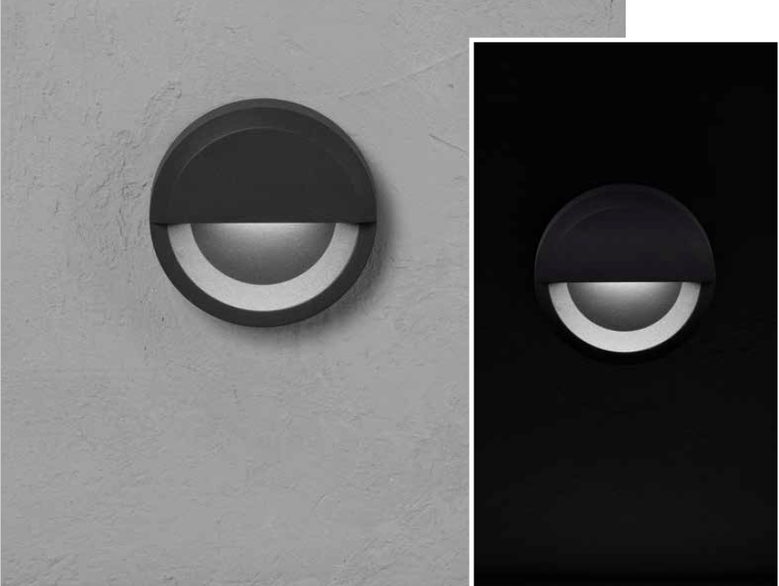 ALCOR round Wall-mounted luminaire 3W 250lm