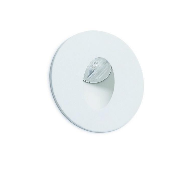 Ligur round recessed Wall / Step light 3W 3000K