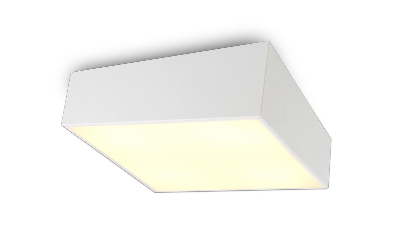 Mini Ceiling 60cm Square, 8 x E27, White