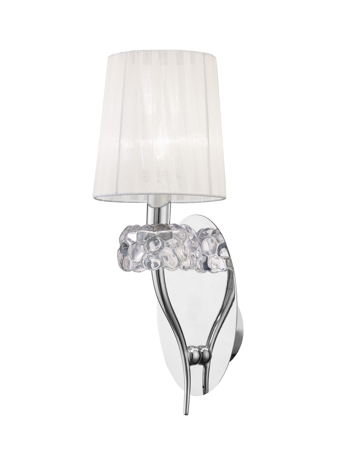 Loewe Wall Lamp Switched 2 Light E14, Antique Brass With White Shade