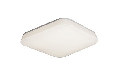 Quatro Ceiling/Wall 10W Small LED 3000K, 1200lm, White Acrylic, 3yrs Warranty