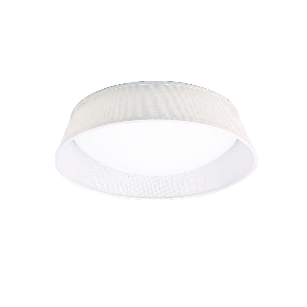 Nordica Ceiling 21W LED 45CM Off White 3000K, 2100lm, White Acrylic With Ivory White Shade, 3yrs Warranty