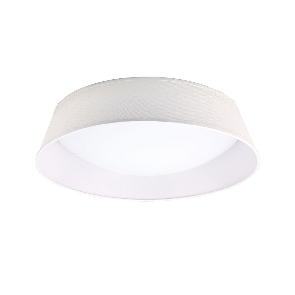 Nordica Ceiling 30W LED 60CM Off White 3000K, 3000lm, White Acrylic With Ivory White Shade, 3yrs Warranty