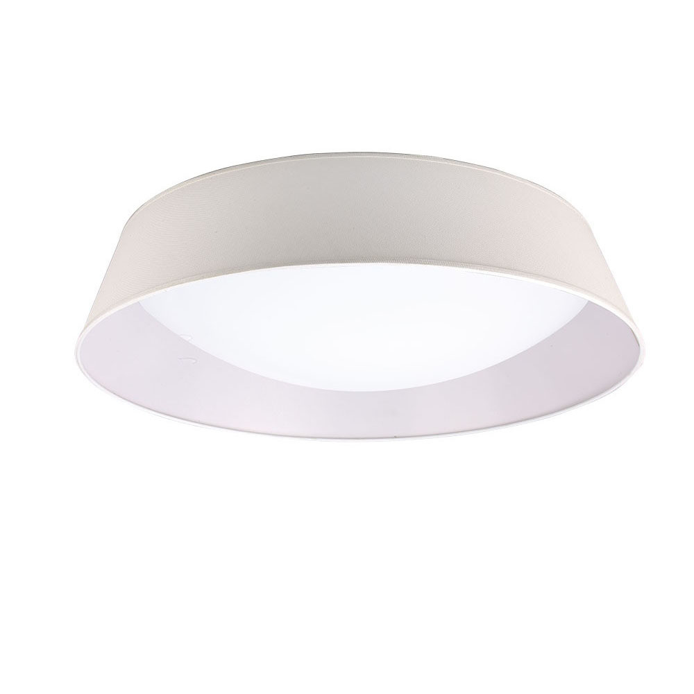 Nordica Ceiling 60W LED 90cm Off White 3000K, 4200lm, White Acrylic With Ivory White Shade, 3yrs Warranty