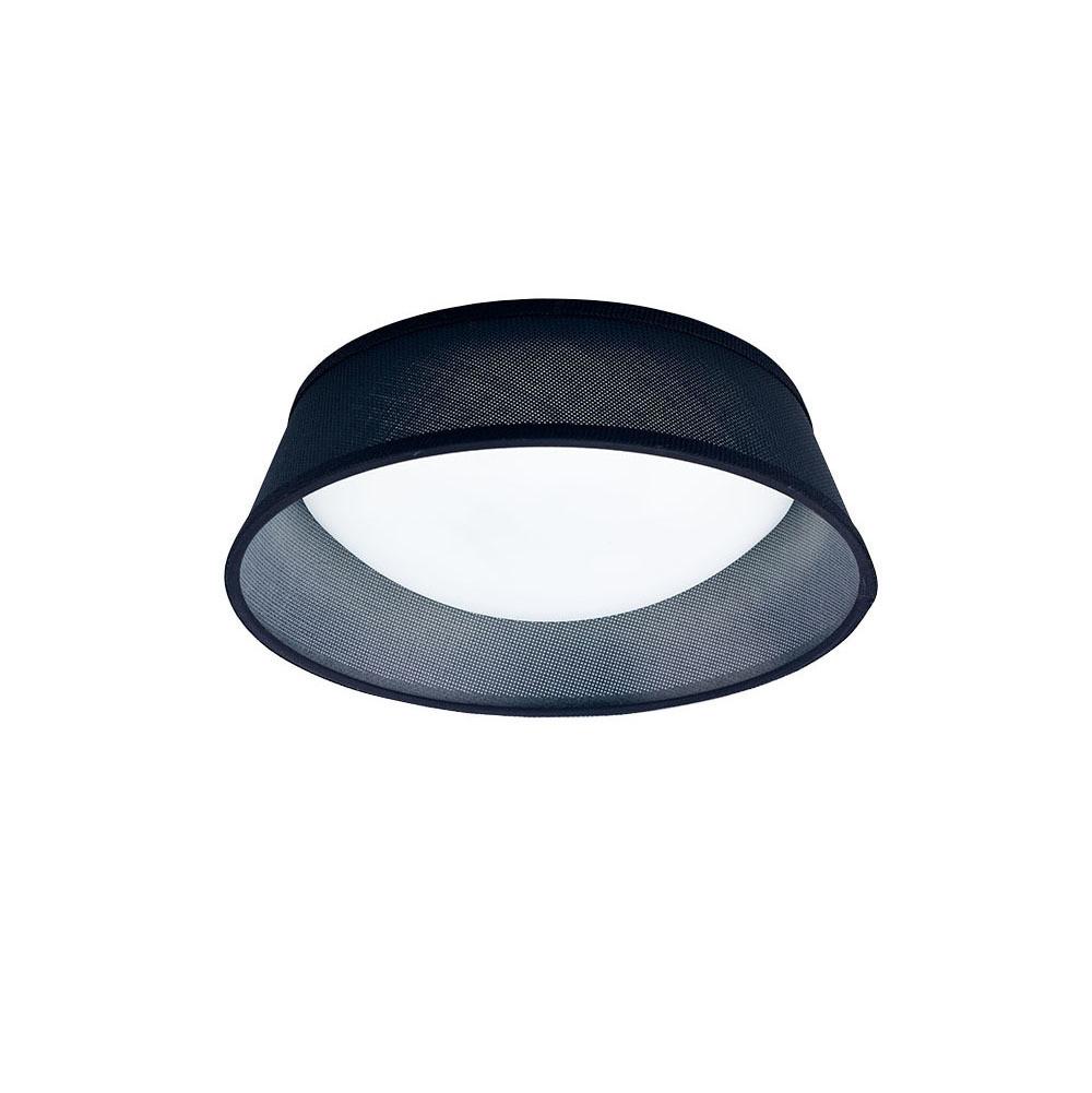 Nordica Ceiling 12W LED 32CM Black 3000K, 120lm, White Acrylic With Black Shade, 3yrs Warranty