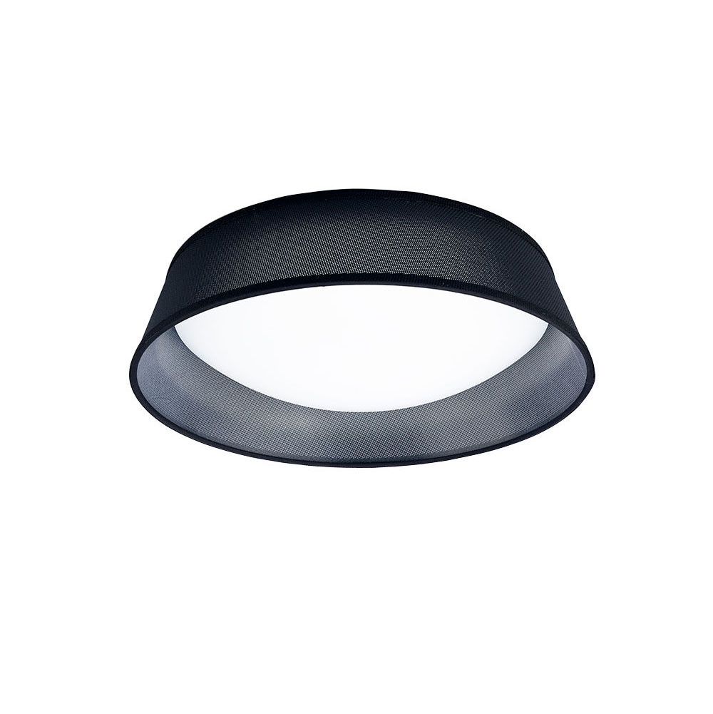 Nordica Ceiling 21W LED 45CM Black 3000K, 2100lm, White Acrylic With Black Shade, 3yrs Warranty