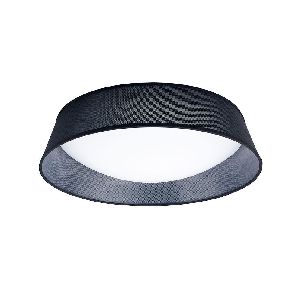 Nordica Ceiling 30W LED 60CM Black 3000K, 3000lm, White Acrylic With Black Shade, 3yrs Warranty