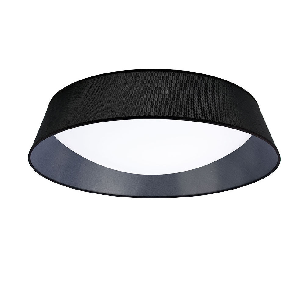 Nordica Ceiling 60W LED 90cm Black 3000K, 4200lm, White Acrylic With Black Shade
