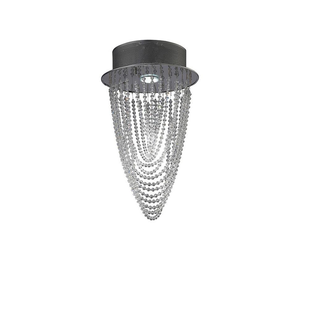 Camilla Ceiling Round 1 Light Polished Chrome/Crystal