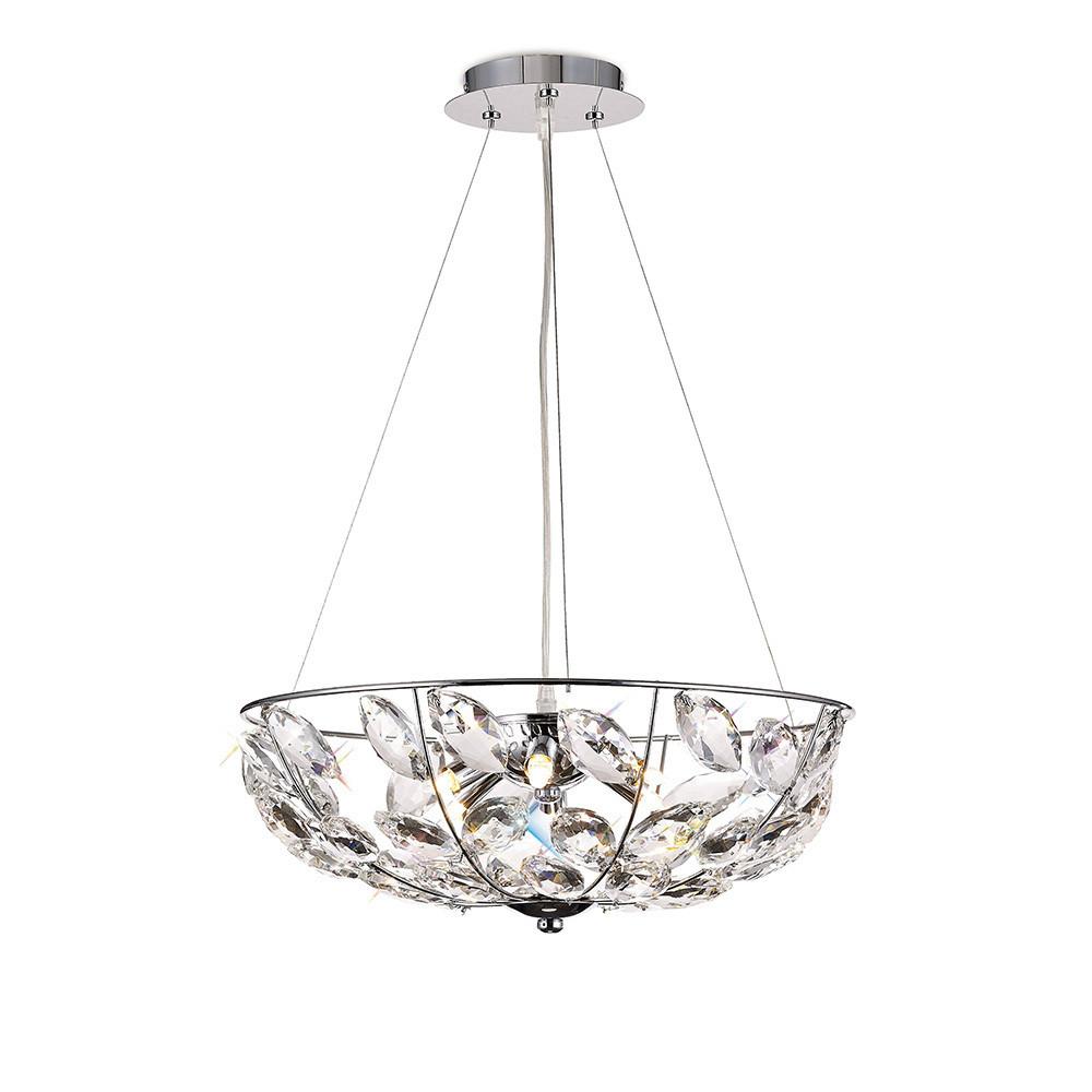 Galilea Pendant 6 Light G9 Polished Chrome/Crystal