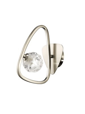 Lux Switched Wall Lamp 1 Light G9, Polished Chrome