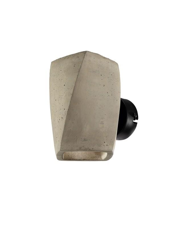 Ghery Wall Lamp 2 Light G9, Cement/Matt Black