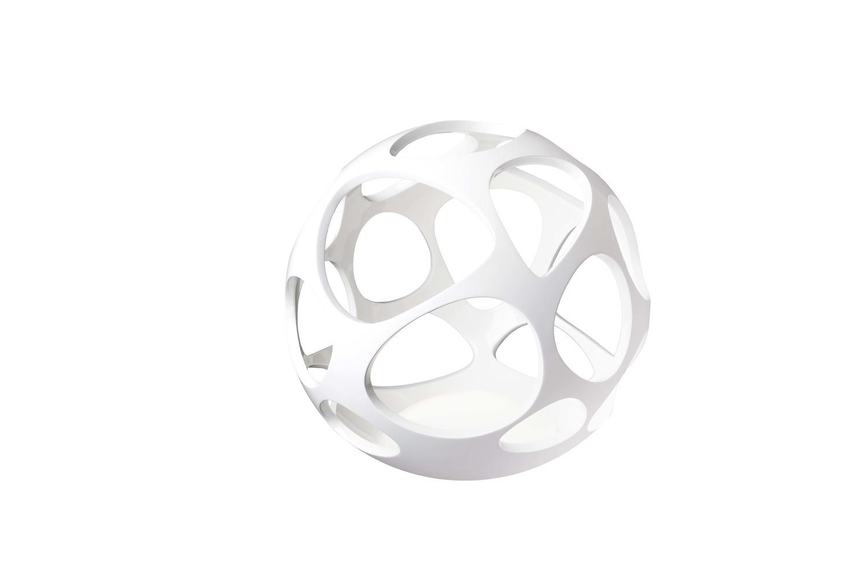 Organica Table Lamp 3 Light E27, Gloss White/Polished Chrome