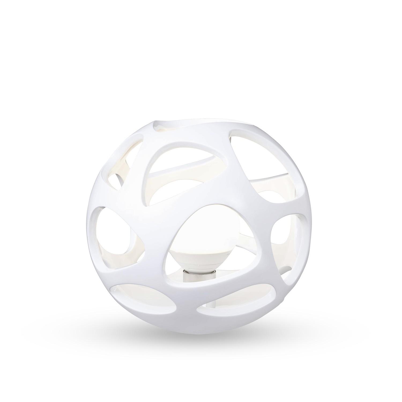 Organica Table Lamp 1 Light E27, Gloss White/Polished Chrome