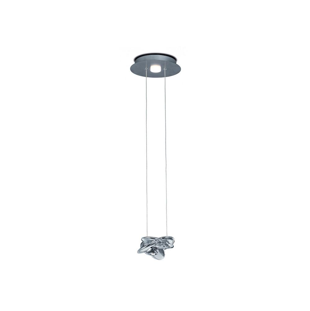 Nido Pendant 25cm Round 1 + 1 Lights 6W + 5W LED 3000K, 800lm, Chrome