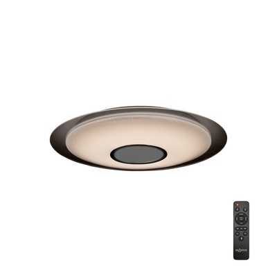 Speaker 36W Tuneable White 3000K-6000K, 2500lm, Dimmable Flush Fitting With Built In 10W Speaker, Bluetooth Connection/Remote Control