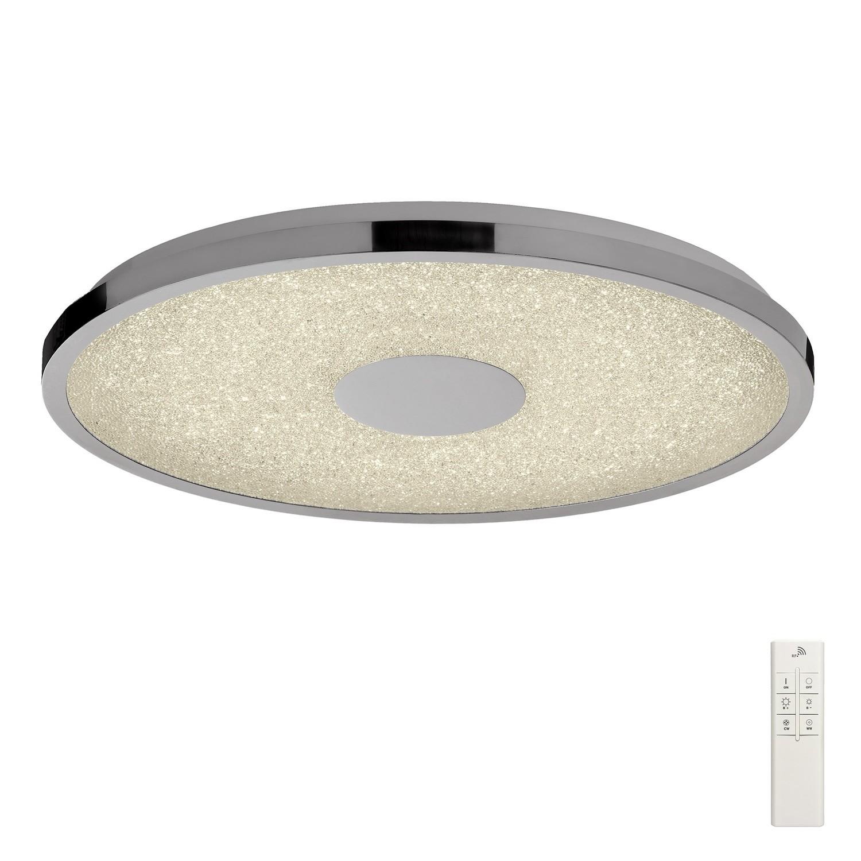 Centara Flush 48cm Round 40W LED 3000-6500K Tuneable, 3200lm, Remote Control Chrome/ Acrylic, 3yrs Warranty