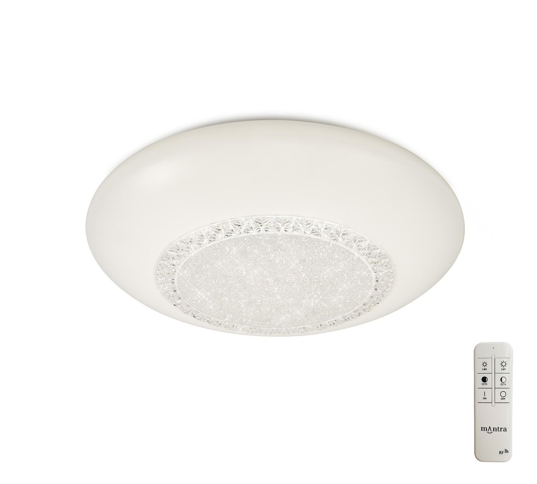 Opera Flush Fitting 41cm Round, 24W LED, 3000-6500K Tuneable White, 1680lm, White, Remote Control, 3yrs Warranty