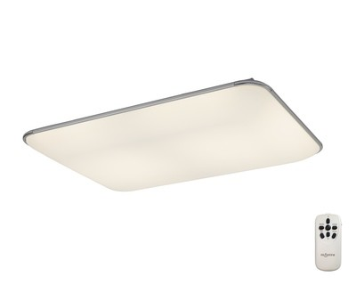 Fase Ceiling Rectangle, 90W LED, 3000-6500K Tuneable White, 4800lm, White, Acyrlic Diffuser, Remote Control,3yrs Warranty